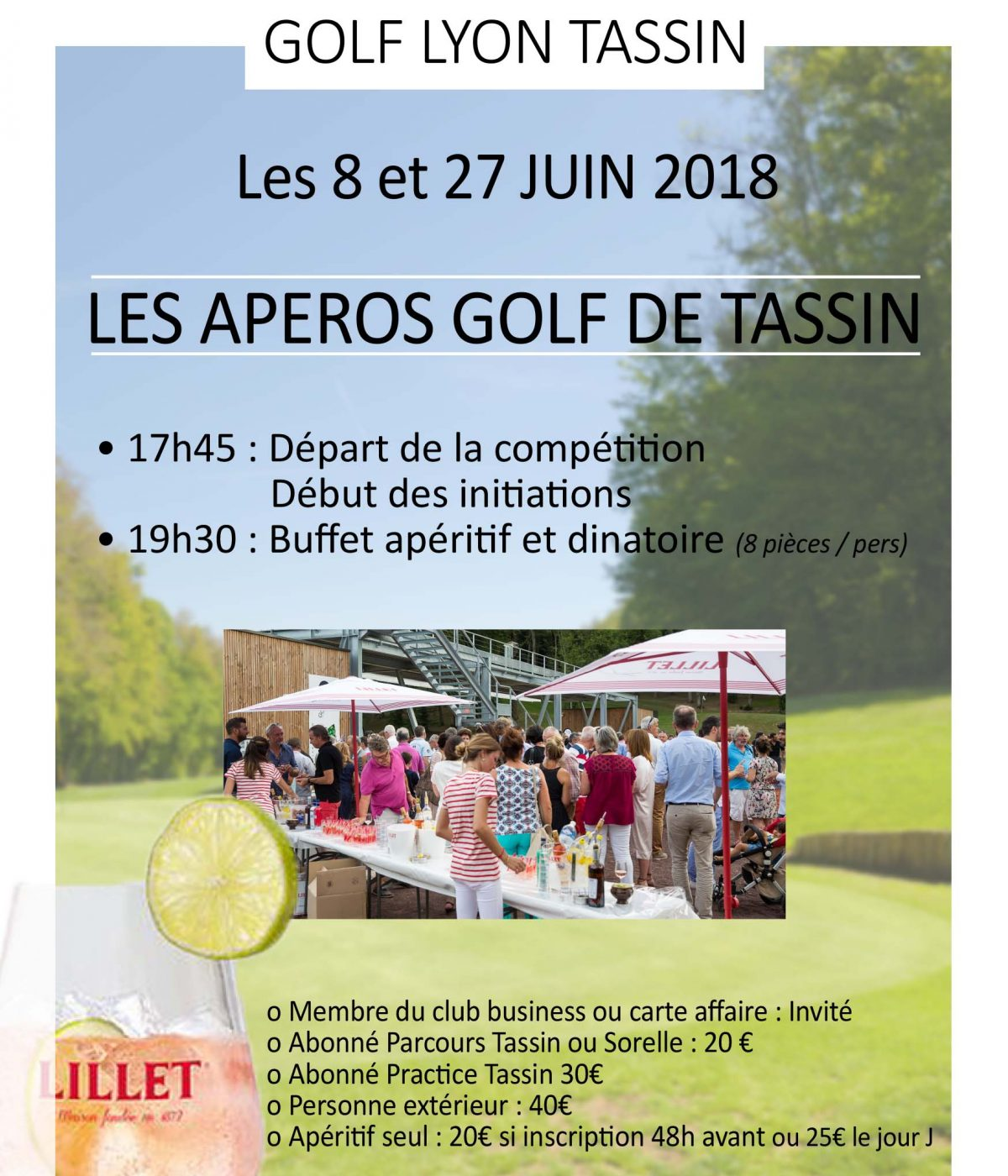 Apéros du golf de Lyon Tassin
