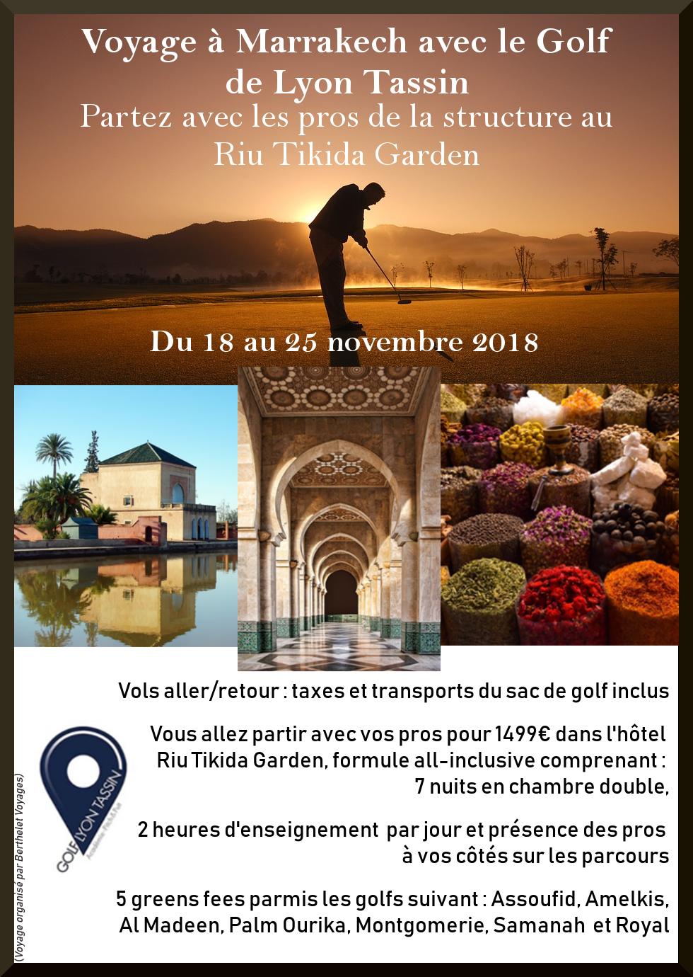 Voyage de golf à Marrakech