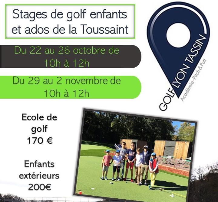 Stages de Golf enfants et ados de la Toussaint