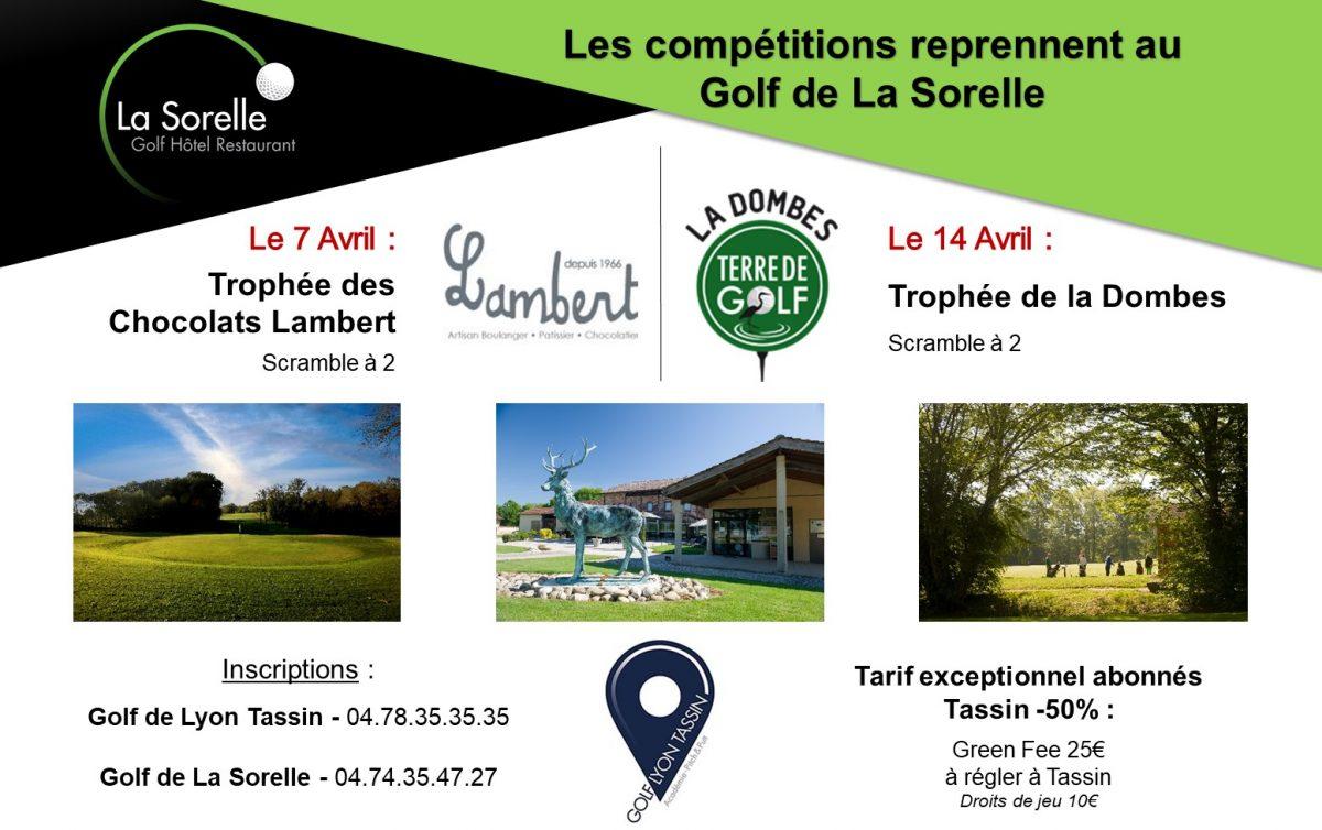 Compétitions au Golf de La Sorelle