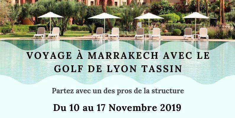 Voyage golfique à Marrakech avec le Golf de Lyon Tassin