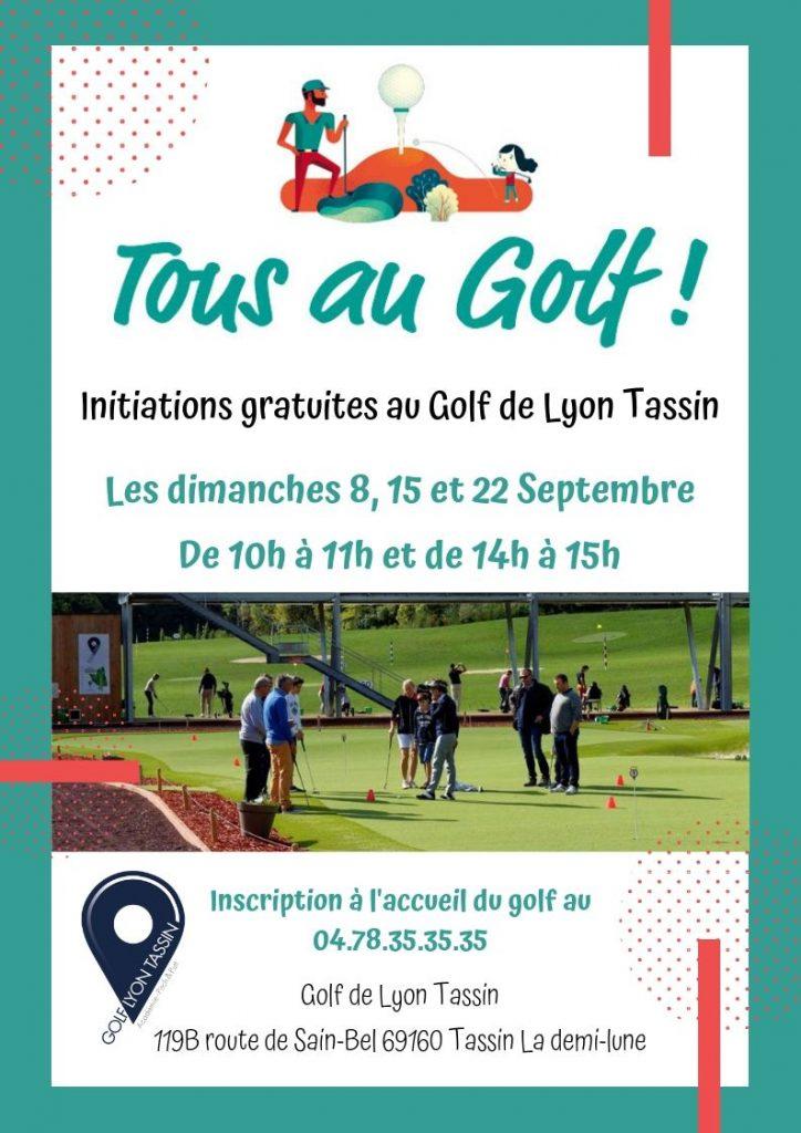 initiations gratuites au golf sur Lyon Tassin