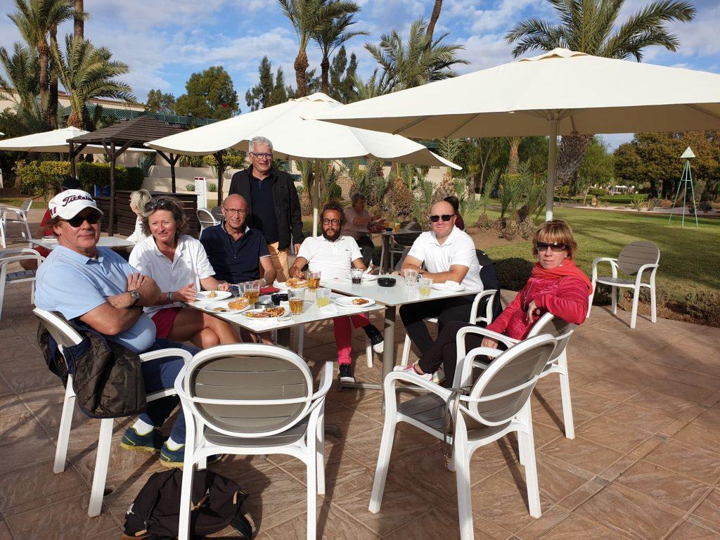 pause détente pendant le voyage golfique de Marrakech