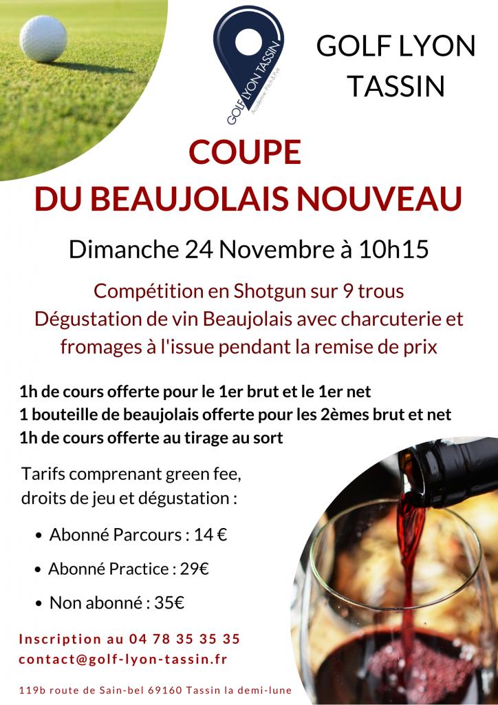 coupe du Beaujolais Nouveau au Golf de Lyon Tassin