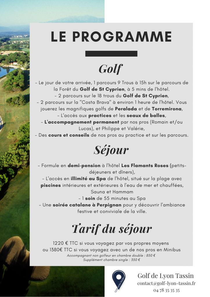 séjour golfique en Catalogne française et sur la Costa Brava