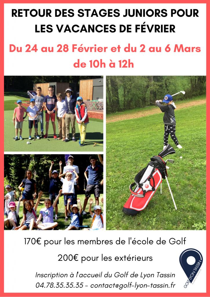 stages enfants de golf sur Lyon Tassin